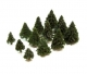 (A-102E) Dark Green Fir Trees