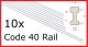 (R-4010) Code 40 Steel Rail *NEW*
